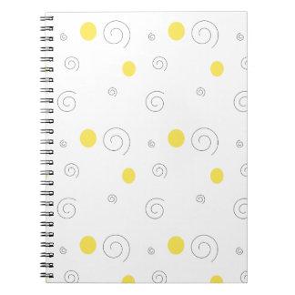 Círculos & espirais caderno espiral