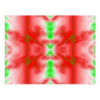 círculos festivos cartão postal