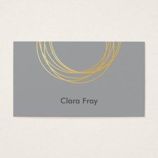 círculos geométricos claros elegantes da folha de cartão de visitas