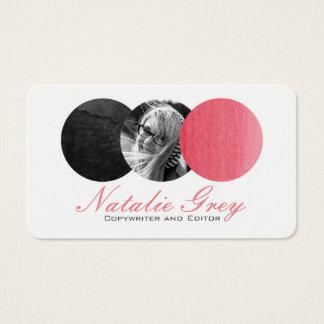 Círculos modernos da foto da aguarela cartão de visitas