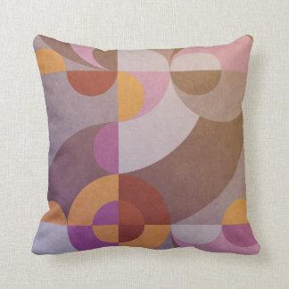Círculos retros abstratos geométricos em cores almofada
