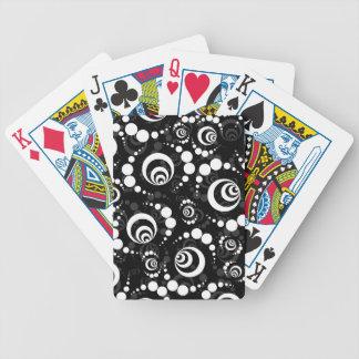 Círculos retros brancos pretos da colheita jogos de baralho