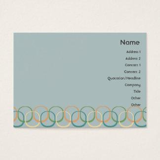 Círculos retros - carnudos cartão de visitas