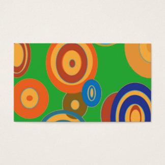 Círculos retros cartão de visitas