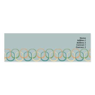Círculos retros - magros cartão de visita skinny