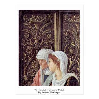 Circumsicion do detalhe de Jesus por Andrea Manteg Cartão Postal