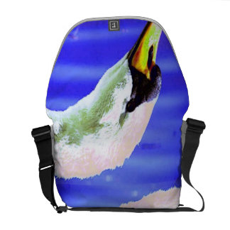 Cisne branca bolsas mensageiro