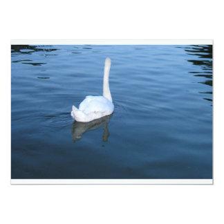 Cisne no palácio do Hampton Court, Reino Unido Convite Personalizado