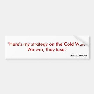 Citações 1 de Reagan Adesivo Para Carro
