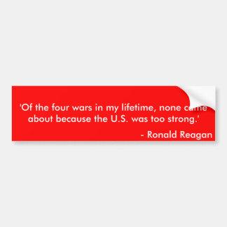 Citações 5 de Reagan Adesivo Para Carro