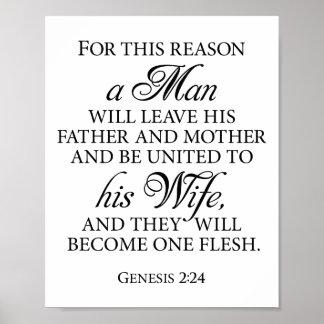 Citações 8 x do amor do casamento do 2:24 B&W da Poster