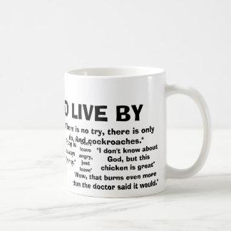 Citações a viver perto caneca de café