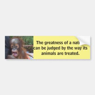 Citações animais de Gandhi do bebê bonito Adesivo Para Carro