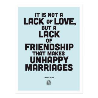 Citações da filosofia do casamento cartão postal