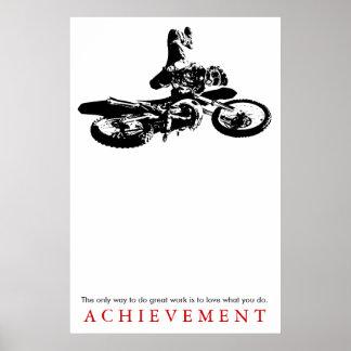 Citações da realização do esporte de Motorcyle Pôster