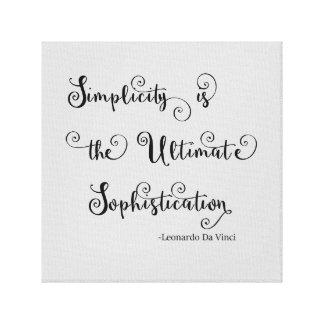 Citações da simplicidade - canvas