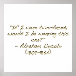Citações de Abraham Lincoln Posteres