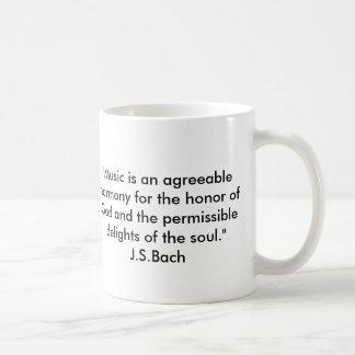 Citações de Bach Caneca De Café