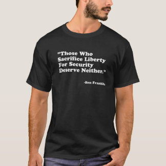 Citações de Franklin T-shirt