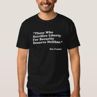 Citações de Franklin Tshirts