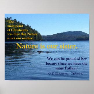 Citações de G.K. Chesterton sobre o poster da