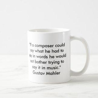 Citações de Mahler Caneca De Café