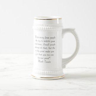 Citações de Mark Twain Caneca De Cerveja