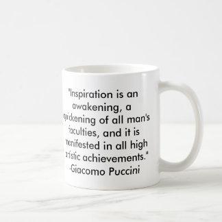 Citações de Puccini Caneca De Café