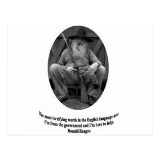 Citações de Ronald Reagan Cartão Postal