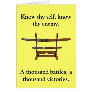 Citações de Sun Tzu Cartão Comemorativo