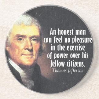 Citações de Thomas Jefferson no poder Porta Copos Para Bebidas