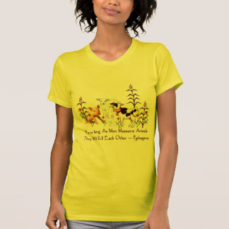 Citações do vegetariano de Pythagoras T-shirts