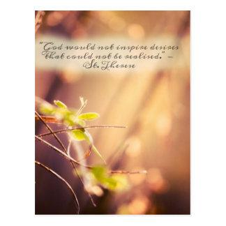 Citações dos desejos de Therese do santo Cartão Postal