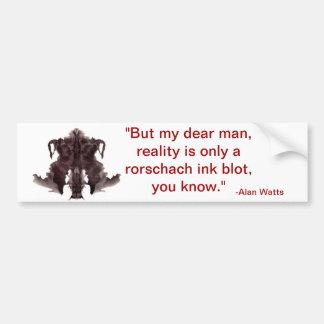 citações dos watts de alan adesivo para carro