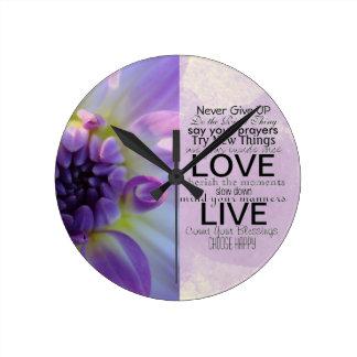Citações e provérbios inspirados relógios de paredes