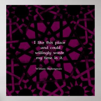 """Citações engraçadas de William Shakespeare """"eu Poster"""