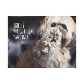 Citações engraçadas do cão: Guardare-as lá Impressão Em Tela