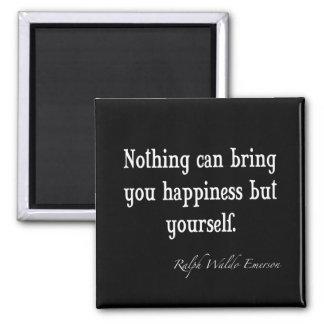 Citações inspiradas da felicidade de Emerson do Ímã Quadrado