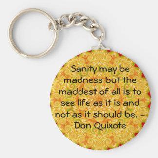 Citações inspiradas de Don Quixote Chaveiro
