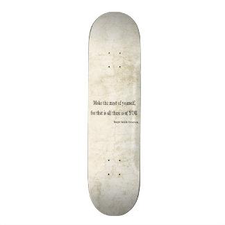 Citações inspiradas de Emerson do vintage Shape De Skate 21,6cm