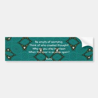 Citações inspiradas de Rumi com design tribal Adesivo Para Carro