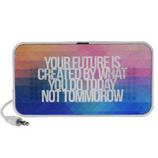 Citações inspiradas e inspiradores caixinhas de som portátil