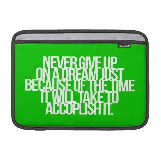 Citações inspiradas e inspiradores bolsas para MacBook air