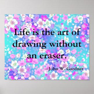 Citações inspiradas e inspiradores na vida poster