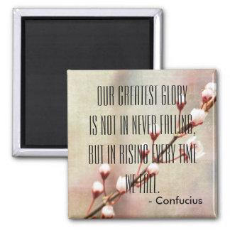 Citações inspiradas inspiradores de Confucius Ímã Quadrado
