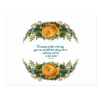 Citações inspiradas para mulheres por Nancy Reagan Cartão Postal