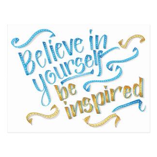 Citações inspiradores - acredite em o senhor mesmo cartão postal