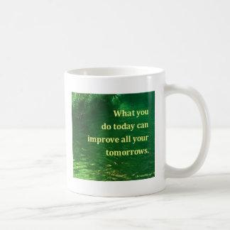 Citações inspiradores caneca de café