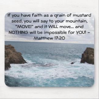 Citações inspiradores da bíblia do 17:20 de Matthe Mouse Pad