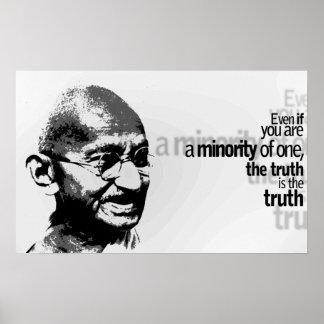 Citações inspiradores da tipografia de Mahatma Poster